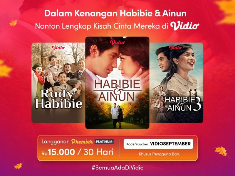 Nonton Trilogi Cinta Sejati Habibie Ainun Semakin Bermakna dengan Promo Vidio Premier September