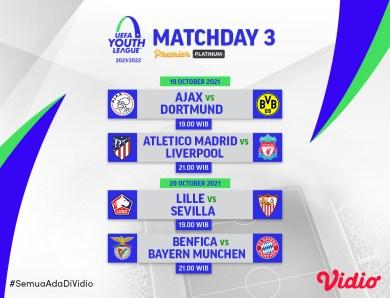 Link Live Streaming UEFA Youth League 2021/22 Pekan Ketiga