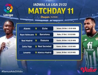Streaming La Liga Live 2021/22 Jornada 11, Ada Real Madrid Vs Osasuna