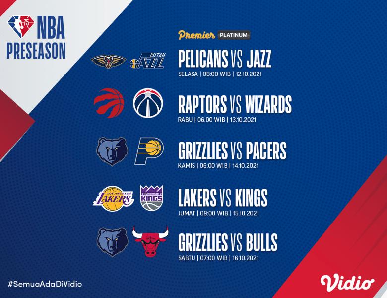 NBA Balik Lagi! Ini Jadwal Live Streaming NBA Preseason 2021, Lakers Kalah Terus?