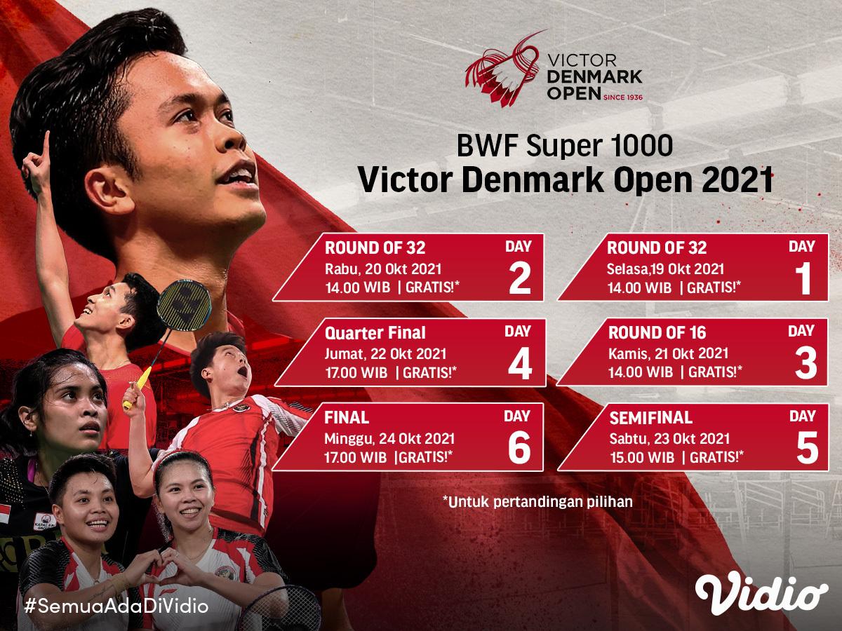 Saksikan dan Dukung Perjuangan Indonesia di Denmark Open 2021
