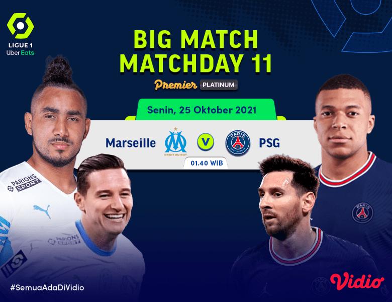 Live Streaming Ligue 1, Prediksi Marseille Vs PSG Pekan 11