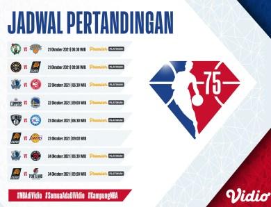 Jadwal Live Stream Regular Season NBA 2021/22 Pekan ini, 21-24 Oktober 2021
