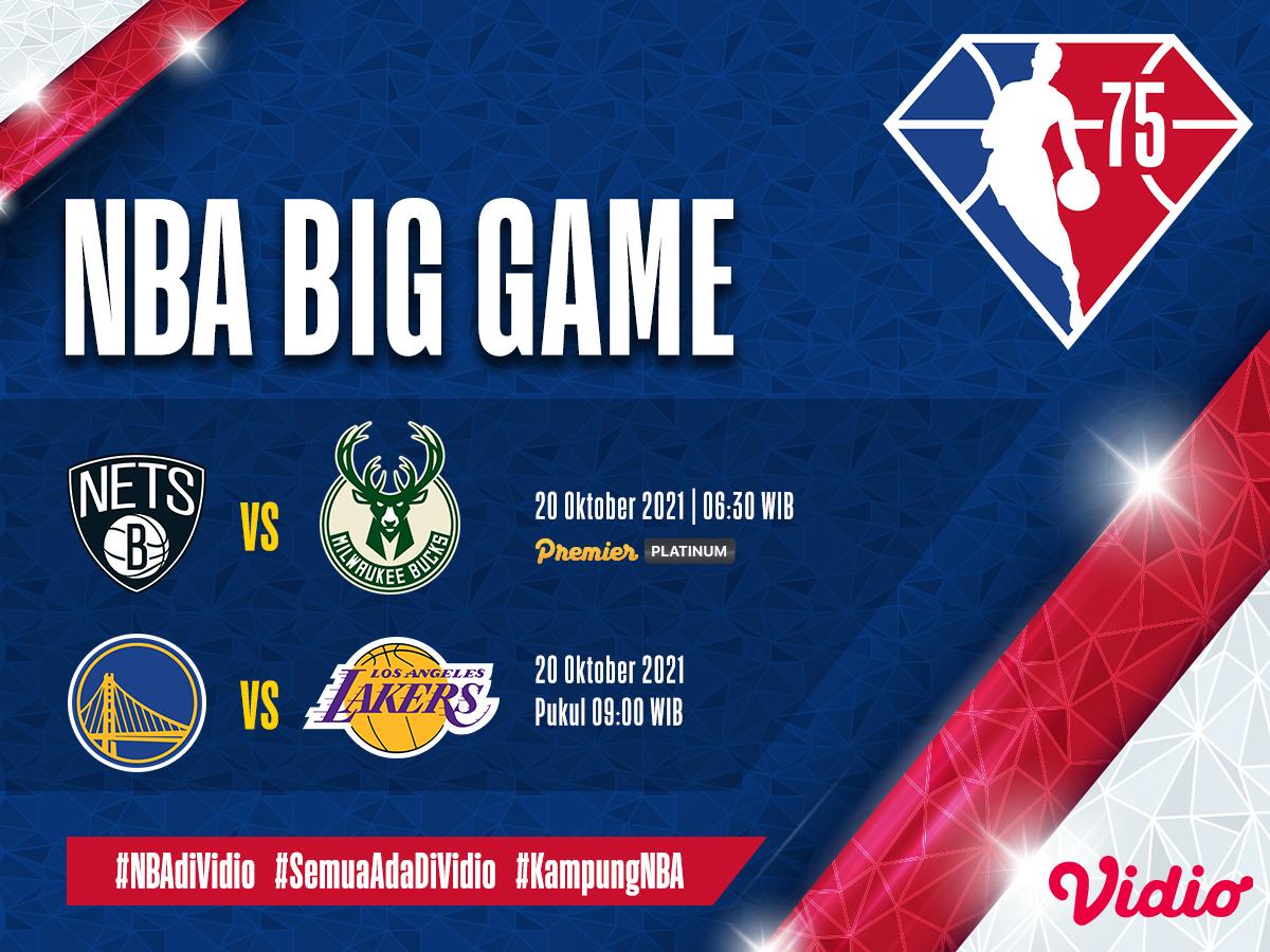 Live Streaming NBA 2021/22, Nets Vs Bucks dan Warriors Kontra LA Lakers