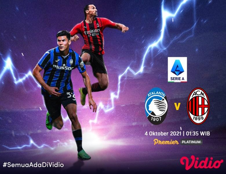 Jadwal Atalanta Vs AC Milan Serie A Italia, Prediksi dan Link Live Streaming