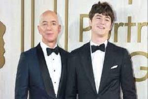Jeff Bezos and his son Preston Bezos