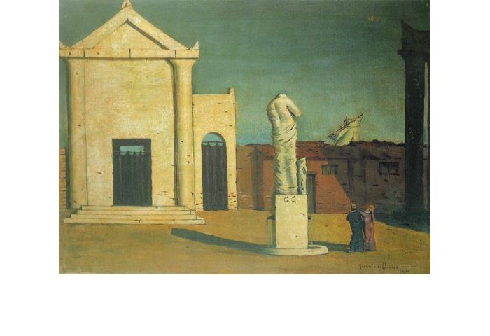 L'Énigme d'un après-midi d'automne (L'enigma di un pomeriggio d'autunno) 1910, Firenze Olio su tela, cm 45 x 60 Collezione privata
