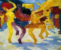 Nolde, Danza attorno al vitello d'oro