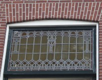 Burgwal 29, Delft, Stained glass