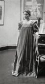 Maria van de Velde in tea gown