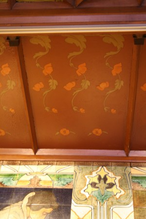 Spuistraat 274, Amsterdam - ceiling with poppies