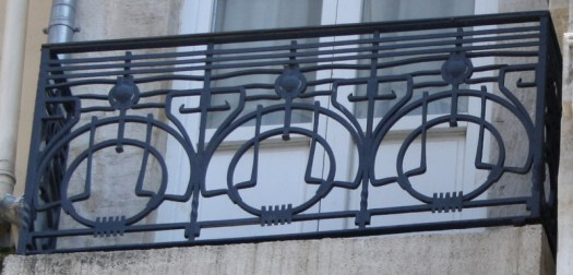 Detail wrought iron balcony Ravouna Building Istanbul