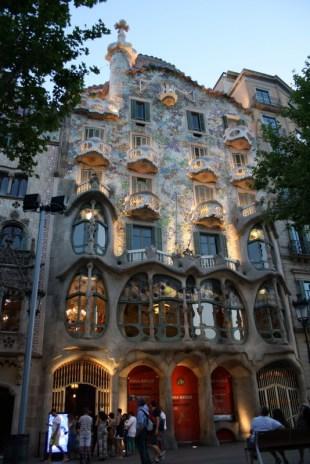 Facade of Casa Batlló - Passeig de Gràcia 43