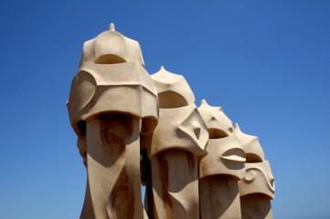 Ventilation Shafts on Top of Casa Milá