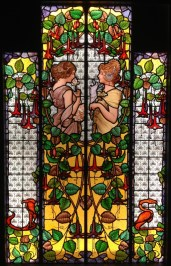 Spring stained glass by Maumejean Hermanos 1893
