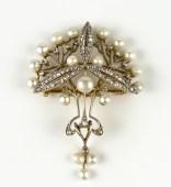 Chamarande Art Nouveau brooch with pearls (BRAFA 41b)