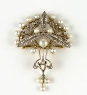 Chamarande Art Nouveau brooch with pearls (BRAFA 41b)