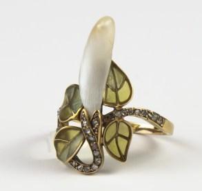 Chamarande Art Nouveau Ring 1900 Georges Le Turcq (BRAFA 41b)