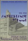 Poster exhibition Amsterdamse School 1975