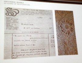 Original receipt wallpaper Horta house
