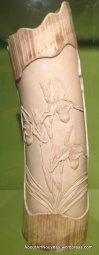 Vase, Ivory, Orchid design