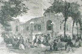 Engraving of the 1st Opera de Vichy