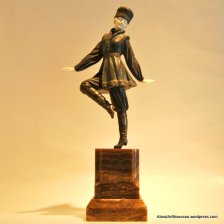 Russian Peasant Dancer by Chiparus, Bronze and Ivory