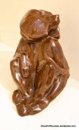 Statuette Babouin Louis Delachenal Sevres 1950