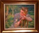 Young Girl Celina by Emile Claus - Gallery Oscar De Vos