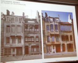 Maison Horta in different construction fases