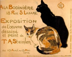 Advertising poster with cats 1894 Théophile Alexandre Steinlen (1859 - 1923)