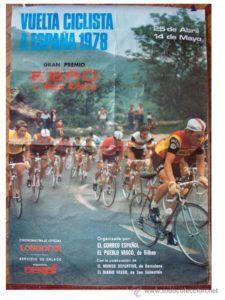 Cartel de la ultima Vuelta que pasó por la CAPV antes de que el Gobierno Vasco pagara por que pasase la de 2011