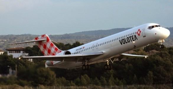 Un avión de la compañía aérea Volotea