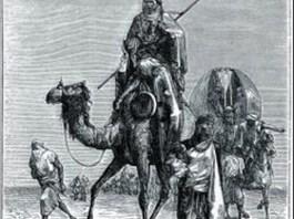 Grabado que representa a Benjamin de Tudela
