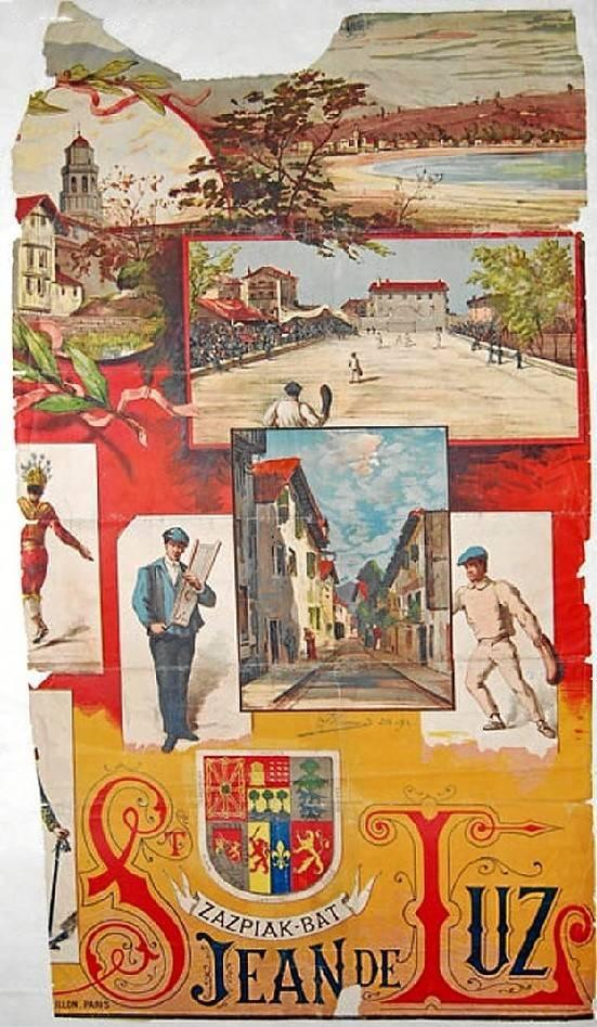 "Zazpiak bat. En las ""Congrès et Fêtes de la Tradition Basque"" celebradas en San Juan de Luz en 1897, Jean de Jaurgain diseñó un escudo que representaba a los siete territorios, integrado por seis escudos"