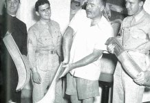 """Hemingway en la Habana con el """"Cura rojo de Mundaka"""" Andres Unzain"""