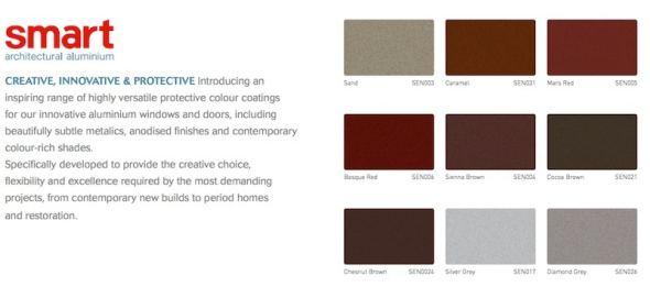 Detalle de la tabla de colores de la empresa británica Smart Systems Ltd