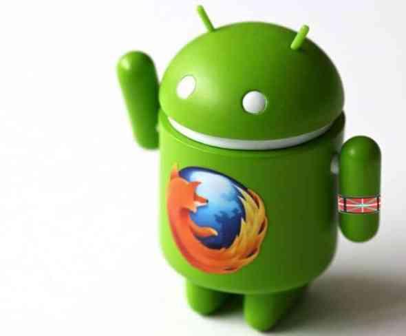 La nueva version de Firefox  para Android, permite que el programa esté en euskera