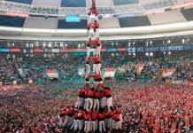 Towering ambition: Will Catalonia gain independence and lose Europe? The human towers, traditional throughout Catalonia, are part of the Intangible Cultural Heritage of Humanity recognised by UNESCO. EPA/JAUME SELLART