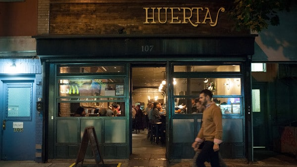 Huertas in New York's East Village