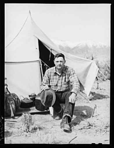Basque sheepherder. Dangberg Ranch, Douglas County, Nevada (Library of Congress)
