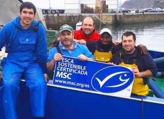 Reconocimiento certificacion sostenible MSC a pescadores vascos de la Anchoa