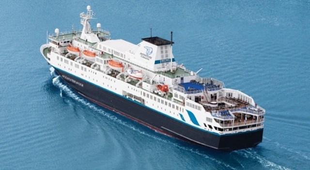 Ocean Endeavour, el buque de Adventure Canadá que se usara en la expedición de los Balleneros vascos