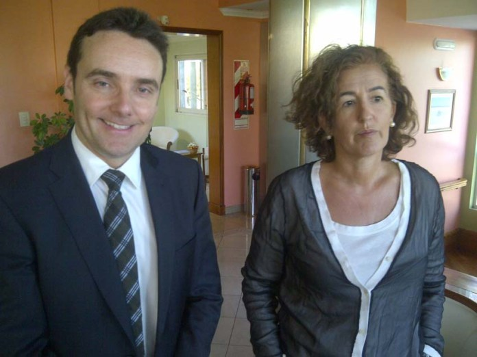Asier Vallejo, Director de Comunidad Vasca en el Exterior, y Sara Pagola, Delegada vasca en Mercosur