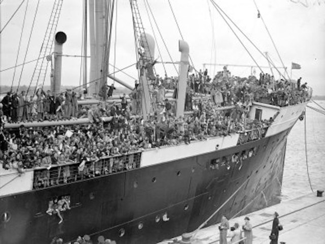 Some 3,840 Basque children evacuated to Britain aboard the 'Habana' after the aerial bombing of Guernica on April 26th, 1937