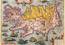 Mapa de Islandia en un artículo sobre las lenguas mas antiguas del mundo
