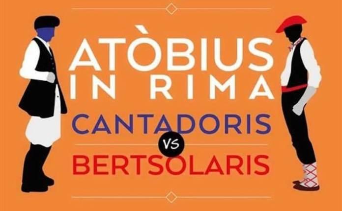 Cartel cantadoris vs bertsolaris en Cerdeña