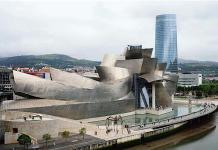 The futuristic Guggenheim Museum in Bilbao, Spain. Photo- Pau Barrena:Bloomberg