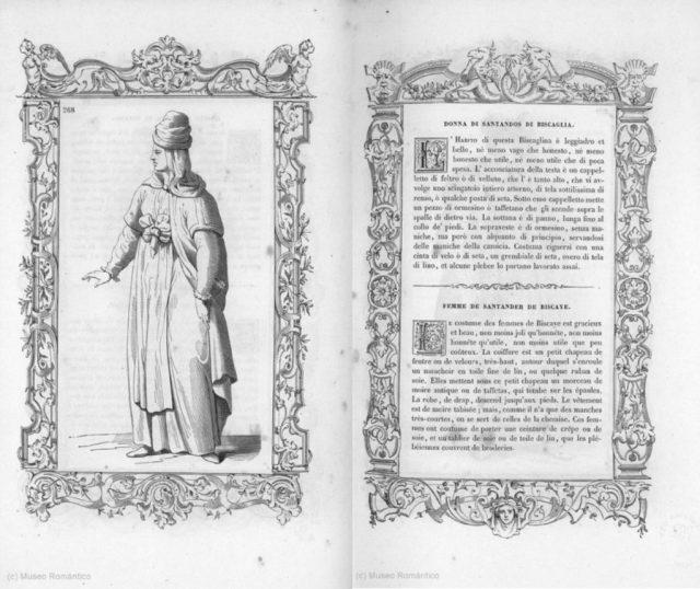 Mujer santanderina de Bizkaia