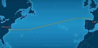 Cable submarino Virginia-Bilbao que van a tender entre Microsoft y Facebook